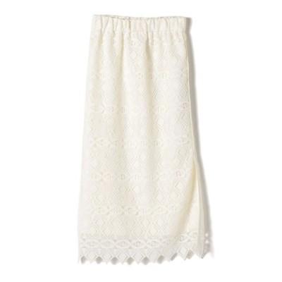SHIPS for women/シップスウィメン ...&DEAR:ロングタイトスカート ホワイト 36