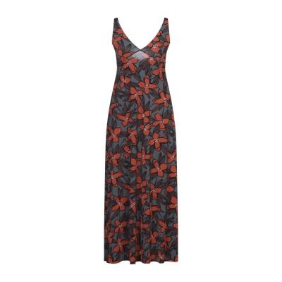 SIYU 7分丈ワンピース・ドレス 鉛色 38 ナイロン 72% / ポリウレタン 28% 7分丈ワンピース・ドレス