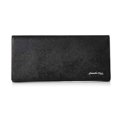[キングズ] 財布 メンズ 牛革 バイカラー ブラック