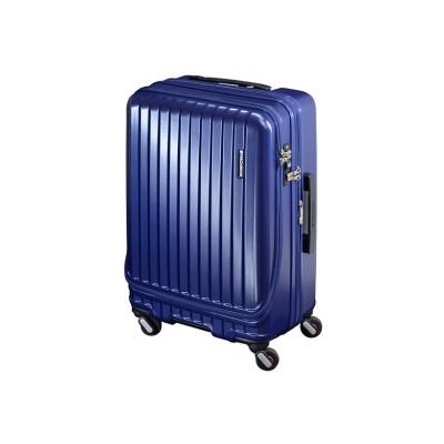 (FREQUENTER/フリクエンター)フリクエンター マーリエ スーツケース Mサイズ フロントオープン 拡張 静音 USB Malie 55L~66L 1-281/ユニセックス ネイビー
