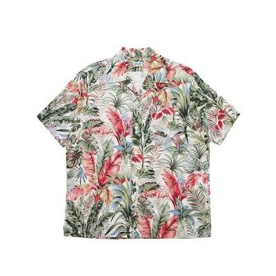 SCHOTT ショット 半袖アロハシャツ BOTANICAL HAWAIIAN S/S SHIRT メンズ ストリート アメカジ 3105037 ライトベージュ M L XL