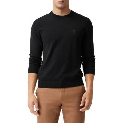 バーバリー BURBERRY メンズ ニット・セーター トップス Bancroft TB Monogram Embroidered Cashmere Sweater Black