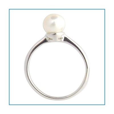 新品NOVICA Pearl White Cultured Freshwater Pearl .925 Sterling Silver Ring 'Moondrop'【並行輸入品】
