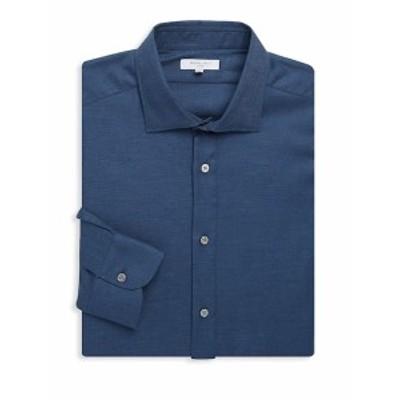 ボグリオリ Men Clothing Slim-Fit Spread Collar Cotton Dress Shirt