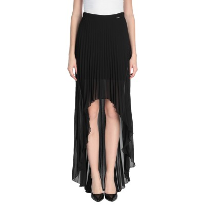 リュー ジョー LIU •JO ひざ丈スカート ブラック 40 ポリエステル 100% ひざ丈スカート