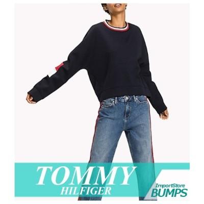 トミーヒルフィガー トレーナー スウェットシャツ レディース ウィメンズ フラッグ アップリケロゴ 丸首 XS〜XL トップス 新作 TOMMY