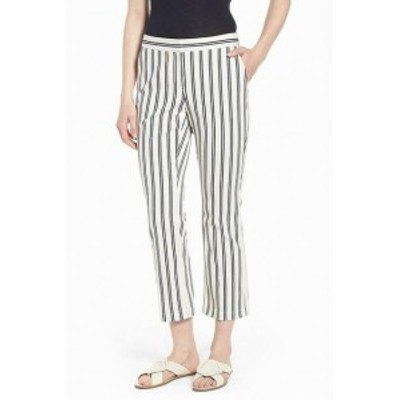 Nordstrom ノードストローム ファッション パンツ Nordstrom Signature NEW White Womens Size 18 Striped Pants Stretch
