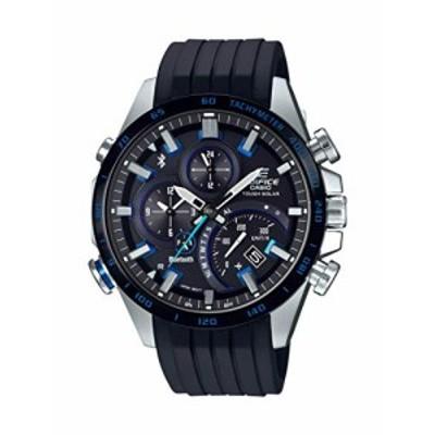 腕時計 カシオ メンズ Casio Men's Edifice Stainless Steel Quartz Watch with Rubber Strap, Black, 22 (M