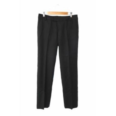 【中古】デプレ DES PRES トゥモローランド パンツ テーパード ウール 1 黒 ブラック /MS レディース