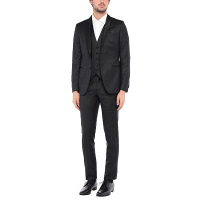 パオローニ PAOLONI スーツ ブラック 50 バージンウール 76% / ポリエステル 24% スーツ