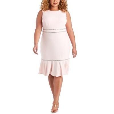 アールアンドエムリチャーズ ワンピース トップス レディース Plus Size Rhinestone-Detail A-Line Dress Blush Pink