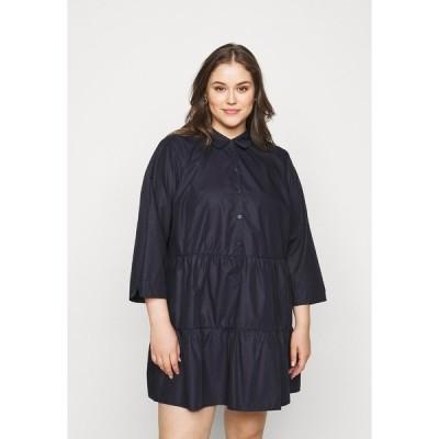 カフェ カーブ ワンピース レディース トップス BESTA DRESS SHIRT - Day dress - midnight marine