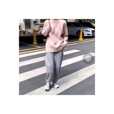 【送料無料】~ 秋冬 韓国風 単一色 ルース オーバーサイズ 風 ティーヘッジ 手厚い ニットのセーター | 346770_A64344-1263137