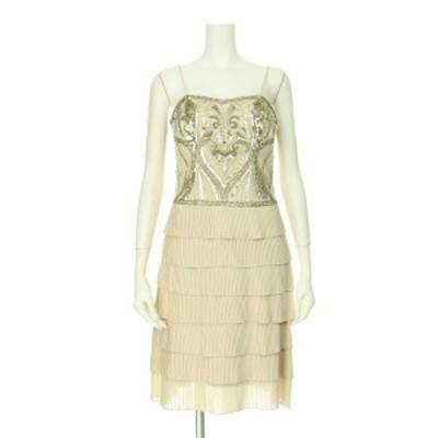 スーウォン SUEWONG ドレス サイズS レディース 新品同様 ベージュ系 カクテルドレス【中古】20200808