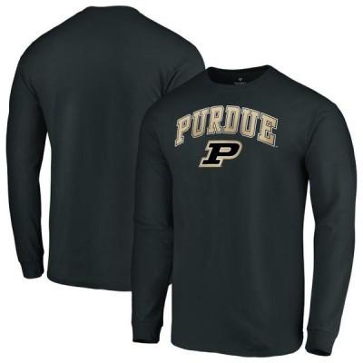 ユニセックス スポーツリーグ アメリカ大学スポーツ Purdue Boilermakers Fanatics Branded Campus Long Sleeve T-Shirt - Black