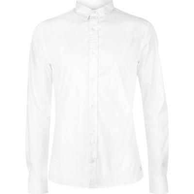 ファイヤートラップ Firetrap メンズ シャツ トップス Blackseal Muscle Fit Shirt White