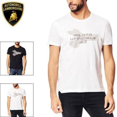 ポイント15倍(ランボルギーニ/Lamborghini) PILOTA UFFICIALE Y柄 Tシャツ ホワイト メンズ(P.U)