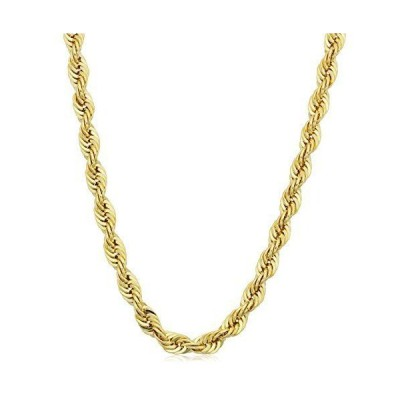 14k Yellow Gold Filled Men's Rope Chain Necklace (4.2 mm, 18 inch)