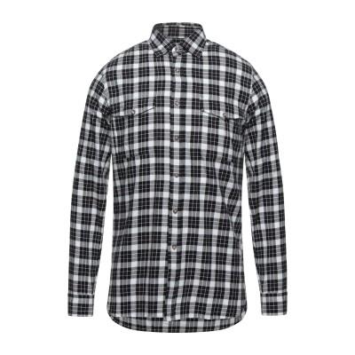XACUS シャツ ブラック S コットン 100% シャツ