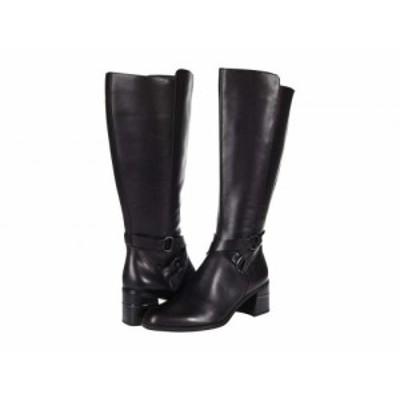 Naturalizer ナチュラライザー レディース 女性用 シューズ 靴 ブーツ ロングブーツ Shore Wide Shaft Black Leather【送料無料】