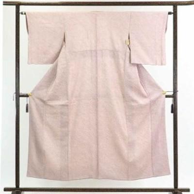 【中古】リサイクル着物 小紋 / 正絹ピンク地総絞り袷小紋着物 / レディース【裄Sサイズ】