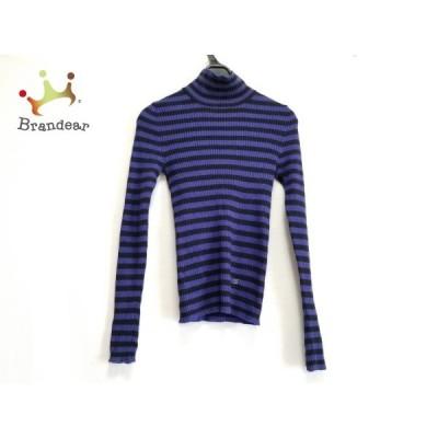 ソニアリキエル SONIARYKIEL 長袖セーター サイズ32 XS レディース ブルー×黒 ボーダー   スペシャル特価 20200103