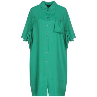 OBLIQUE CREATIONS ミニワンピース&ドレス ライトグリーン 1 70% レーヨン 30% シルク ミニワンピース&ドレス