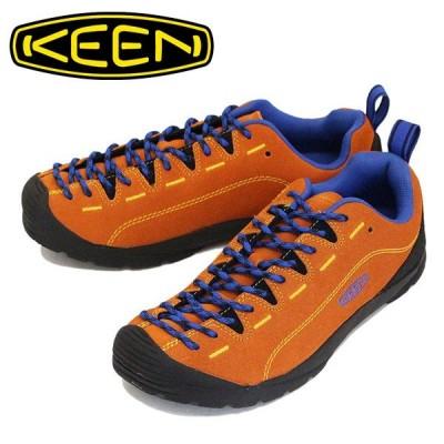 KEEN (キーン) 1021883 Men's JASPER ジャスパー アウトドア スニーカー Mandarine Orange/Nautical Blue KN403