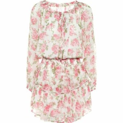 ラブシャックファンシー LoveShackFancy レディース ワンピース ワンピース・ドレス Popover Floral Silk Dress Blushing Rose