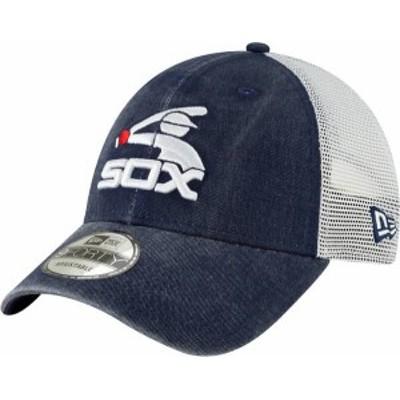 ニューエラ メンズ 帽子 アクセサリー New Era Men's Chicago White Sox 9Forty Cooperstown Trucker Adjustable Hat