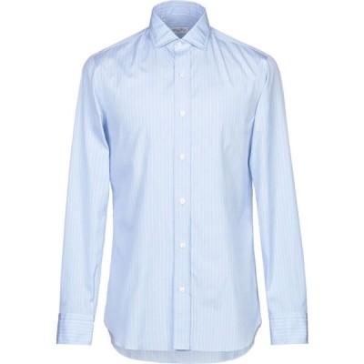 サルヴァトーレピッコロ SALVATORE PICCOLO メンズ シャツ トップス striped shirt Azure
