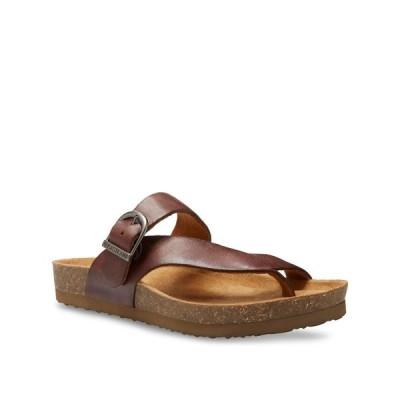 イーストランド Eastland Shoe レディース サンダル・ミュール シューズ・靴 Eastland Shauna Thong Sandals Walnut