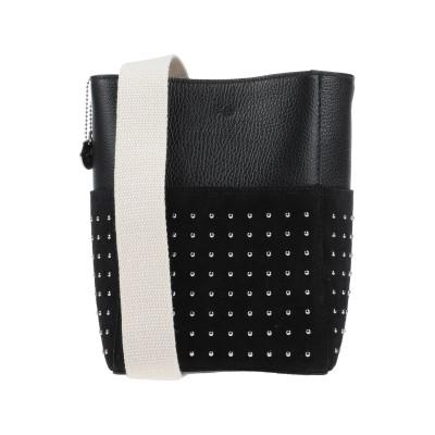 ローラ・ディ・マッジオ LAURA DI MAGGIO メッセンジャーバッグ ブラック 革 / 紡績繊維 メッセンジャーバッグ