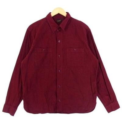 TENDERLOIN テンダーロイン T-WORK SHT ワーク 長袖シャツ 長袖 シャツ 日本製 ボルドー系 XL【中古】