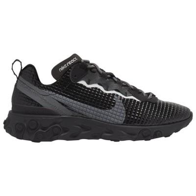 ナイキ メンズ リアクト エレメント55 Nike React Element 55 スニーカー Black/Dark Grey/Anthracite
