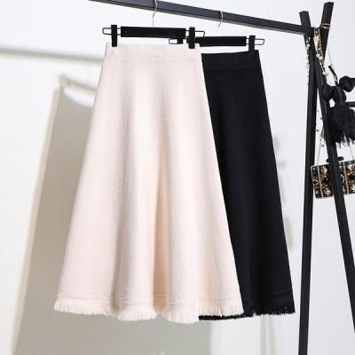 カジュアル エレガント スカート 2色