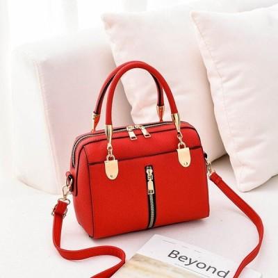 *新品*レディースショルダーバッグ ジッパー☆PUレザー 女性用ハンドバッグ クロスボディバッグ かばん 手提げ カバン