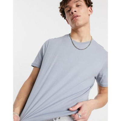 ニュールック 半袖Tシャツ メンズ New Look crew t-shirt in blue エイソス ASOS ブルー 青