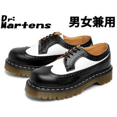 訳あり品 ドクターマーチン 3989 5アイブローグシューズ 24.0cm UK5.0 ブラック×ホワイト 10458001 男性用兼女性用 DR.MARTENS 3989 (dm352)