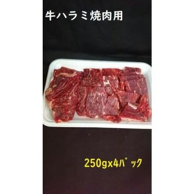 牛肉 焼き肉 焼肉 ハラミ BBQ バーベキュー 牛ハラミ焼肉用1kg(250gx4パック)