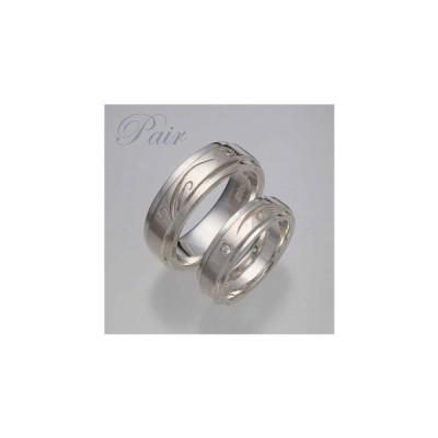 ペアリング シルバー ダイヤモンド 内側刻印 太細セットのペアリング BLR-12240