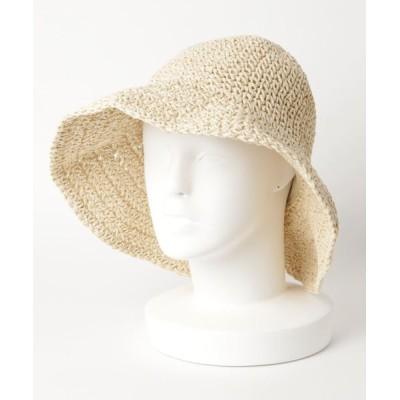 STYLEBLOCK / バックリボンデザインつば広麦わら帽子ストローハット WOMEN 帽子 > ハット