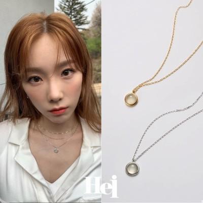 [Hei]💛 Taeyeon / MAMAMOO / GFRIEND / GOT7 着用 | moonstone necklace