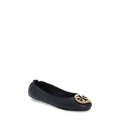 トリー バーチ TORY BURCH レディース スリッポン・フラット バレエシューズ シューズ・靴 Minnie Travel Ballet Flat Ink Navy/Gold