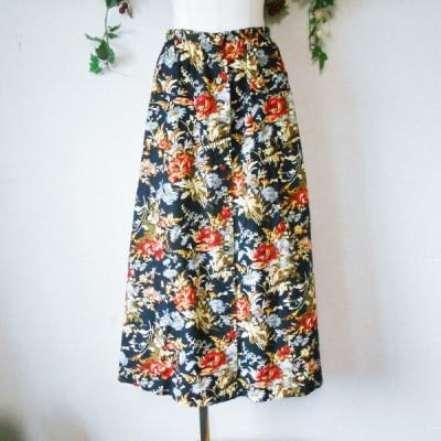 インゲボルグ INGEBORG 花柄 プリント ロング スカート