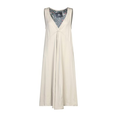 EVEN IF 7分丈ワンピース・ドレス ベージュ XS レーヨン 98% / ポリウレタン 2% 7分丈ワンピース・ドレス