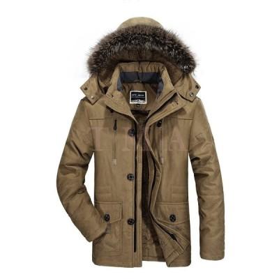 年末セール モッズコート 40代 ミリタリージャケット メンズ ジャンパー ボア付き 大きい ファー ジャケット ブルゾン 8L 防寒