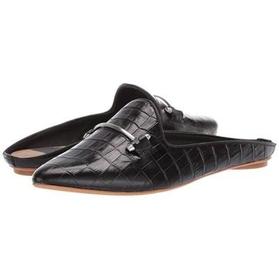ドルチェ・ヴィータ Gram レディース フラットシューズ Black Croco Embossed Leather