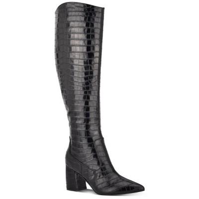 マークフィッシャー ブーツ&レインブーツ シューズ レディース Retie Knee-High Boots Black Croco