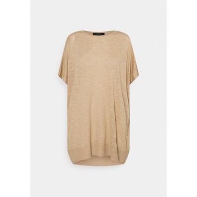 ヴェロモーダ Tシャツ レディース トップス VMFLYSTA OVERSIZE BLOUSE - Basic T-shirt - beige